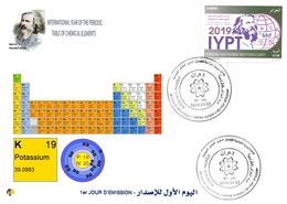 DZ Algeria 1836 2019 Anno Internazionale Della Tavola Periodica Degli Elementi Chimici Dmitry Mendeleev Chimica Potassio - Chimica