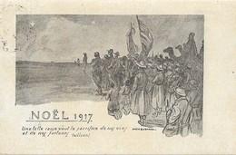 Carte Postale Franchise Militaire Noel 1917 - Poststempel (Briefe)