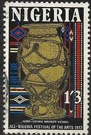 NIGERIA 1972 All-Nigeria Arts Festival - 1s.3d - Bronze Pot From Igbo-Ukwu FU - Nigeria (1961-...)