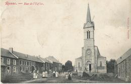 Rienne - Rue De L'église Très Animée - Circulé 1909 - Edit Jos Poncelet - Gedinne