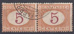 ITALIA - Segnatasse - 2 Valori Usati: Yvert 5, Uniti Fra Loro. - Portomarken