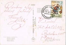 33201. Postal ESCALDES ENGORDANY (Andorra) 1976. Vistas Varias - Andorre Espagnol