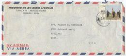 Peru 1970 Airmail Cover Lima - Misioneros De Los Santos Apostoles, Chosica - Peru