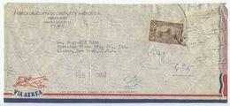 Uruguay 1950 Registered Airmail Cover Montevideo To Elmira NY, Scott C142 - Uruguay