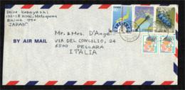 GIAPPONE - 1986 - FROM MATSUYAMANINISHI TO ITALY - AIR MAIL - 1926-89 Emperor Hirohito (Showa Era)