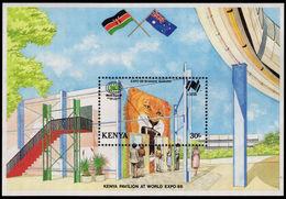 Kenya 1988 Expo 88 Souvenir Sheet Unmounted Mint. - Kenya (1963-...)