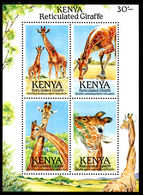Kenya 1989 Giraffe Souvenir Sheet Unmounted Mint. - Kenya (1963-...)