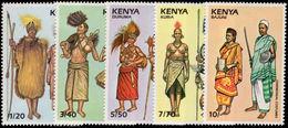 Kenya 1989 Ceremonial Costumes Unmounted Mint. - Kenya (1963-...)