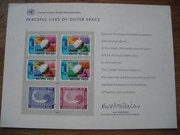 Pseudo Entier Postal 1975 Peaceful Uses Of Outer Space Utilisations Pacifiques De L'espace Extra-atmosphérique - Lettres & Documents