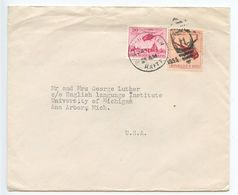 Haiti 1955 Cover Cap-Haitien To Ann Arbor MI, Scott RA21 & RAC1 Postal Tax Stamps - Haiti