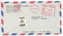 Panama 1973 Airmail Cover To Stuttgart Germany, Scott RA62 & Meter - Panama