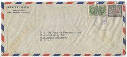 Panama 1947 Airmail Cover Colón To Wilmington DE, Scott C82 & RA25 - Panama