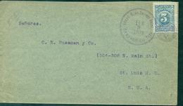 COLOMBIE Oblit 3 Fev 1909 Pour E.U.A.verso Ct De Transit Du 8 à BUENAVENTURA TB. - Colombie