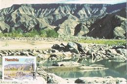 33204. Tarjeta Maxima MALTAHOHE (Namibia) 1990. Tsarisberge. Montañas Tsaris - Namibia (1990- ...)