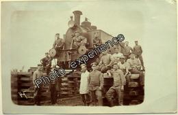 ¨CPA Carte Photo Guerre 14-18 Militaire German Train Zug Military WW1 MIECZYSZCZOW Ukraine Ukraina - Ucraina