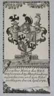 Vignette Héraldique XVIIIème - Von ALTENFRANCKING - Ex-libris