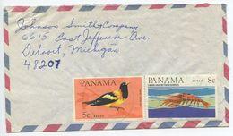 Panama 1966 Airmail Cover To Detroit MI, Scott C337 & C339 - Panama