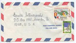 Panama 1984 Airmail Cover Aguadulce To Scranton PA, Scott C438 Soccer - Panama