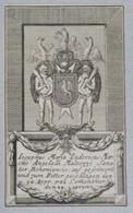 Vignette Héraldique XVIIIème - ANGELELLI MALVEZZI - Ex-libris