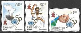 Lesotho 1995 50 Years United Nations UN UNO ONU Vereinte Nationen Michel No. 1122-24 Mint MNH Neuf Postfrisch ** - Lesotho (1966-...)
