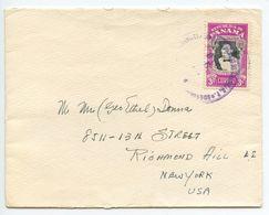 Panama 1950's Cover Colon To Richmond Hill NY, Scott 399 General Remon Cantera - Panama