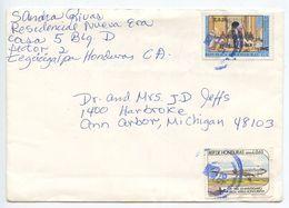 Honduras 1990 Cover Tegucigalpa To Ann Arbor MI, Scott C711 & C785 - Honduras