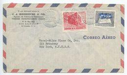 El Salvador 1954 Airmail Cover San Salvador To New York, Scott C137 & C147 - El Salvador