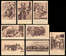 Russian Famine Of 1921–22 - Set Of 8 Cards Issued By The French Children Relieg Committee. - Russia