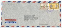 Costa Rica 1972 Airmail Cover San Jose To Ann Arbor MI, Scott C527 & C536 - Costa Rica