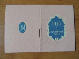 Calendrier Publicitaire «Au Bon Marché» 1939 - Kalenders