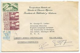 Mexico 1970 Airmail Special Delivery Cover Mexico, D.F. Dr. Jorge Gage Barragán - Mexico
