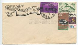 Mexico 1968 Cover D.F. To Arlington VA, Mix Of Stamps & Christmas Seal - Mexico