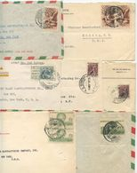 Mexico 1940's-50's 7 Covers To Elmira NY, Mix Of Stamps - Mexico