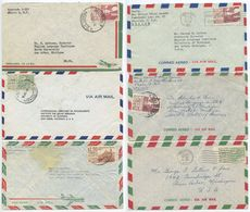 Mexico 1950's-60's 6 Airmail Covers To Ann Arbor MI, Mix Of Stamps - Mexico