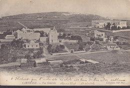 Tunisia PPC Carthage Vue Générale 1904 To PARIS Simple Backside (2 Scans) - Tunesien