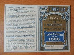 Calendrier Publicitaire 1886 – Assurance L'Abeille - Kalenders