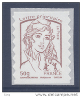 N° 855 Marianne Adhésif Année 2013, Valeur Faciale 50g - France