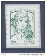 N° 858 Marianne Adhésif Année 2013, Valeur Faciale 20g Verte - France