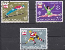 Romania 1976 Olympic Games Innsbruck 3 Stamps Used (H54) - Winter 1976: Innsbruck