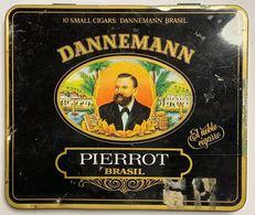 AC - DANNEMANN PIERROT BRASIL CIGAREMPTYTIN BOX FINE CONDITION - Contenitori Di Tabacco (vuoti)