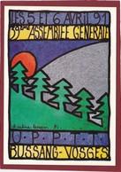 AG 1991 UPPTT BUSSANG VOSGES ILLUSTRATRICE CHRISTINE LESUEUR - Autres Illustrateurs