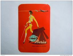 Iberia Lineas Aereas De Espana Toreador Etiket Etiquette Vintage Luggage Label 7.5 X 11 Cm - Étiquettes à Bagages
