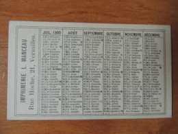 Calendrier Publicitaire 1900 – Imprimerie Manceau - Kalenders