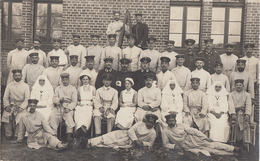 CARTE PHOTO ALLEMANDE - GUERRE 14-18 - HÔPITAL DE COSEL - SAXE - Weltkrieg 1914-18