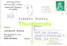 CPA ECHECS CHESS SCHACH AJEDREZ POSTAL JOAQUIN NORIA ESPLUGUES ESPANAN SPAIN ALEX ALEXIS  VAN OSMAEL BELGIE BELGIQUE - Echecs