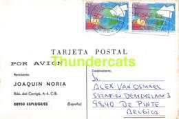 CPA ECHECS CHESS SCHACH AJEDREZ POSTAL JOAQUIN NORIA ESPLUGUES ESPANAN SPAIN ALEX ALEXIS  VAN OSMAEL BELGIE BELGIQUE - Schaken