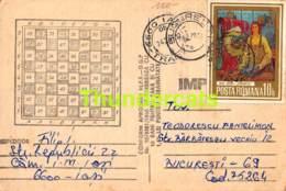 CPA ECHECS CHESS SCHACH AJEDREZ POSTAL ROMANIE ROMANIA FILIP IOAN BUCURESTI - Schaken