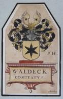 Vignette Héraldique XVIIème - WALDECK - Ex-libris