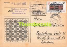 CPA ECHECS CHESS SCHACH AJEDREZ POSTAL EGBERT BOSENBERG DDR DEUTSCHLAND PANTELIMON TEODORESCU ROMANIE ROMANIA - Ajedrez