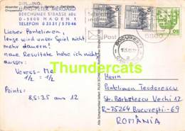 CPA ECHECS CHESS SCHACH AJEDREZ POSTAL HANS PETER MERGARD DDR DEUTSCHLAND PANTELIMON TEODORESCU ROMANIE ROMANIA - Schaken